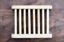 Hemu Wood Soap  Slatted Dish - Corrugated & Made from Sustainable Wood